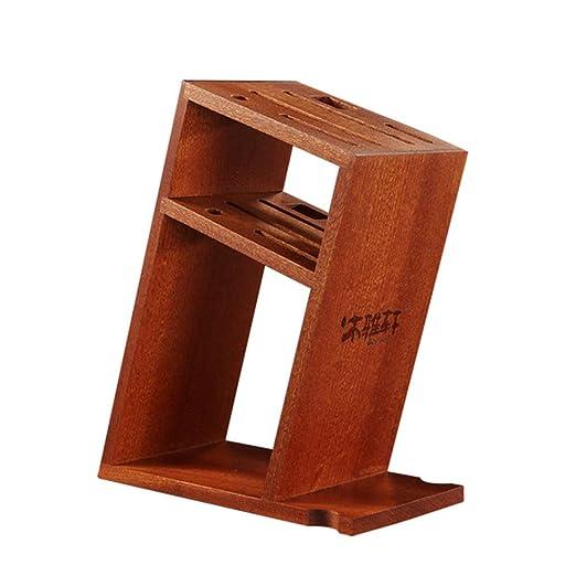 Compra JU FU Sujetador de cuchillo Porta cuchillos de madera ...