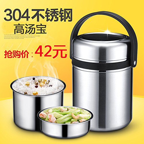 BGmdjcf 304 Stainless Steel High Karen Tong Seal Spill Keep-Warm Mentioned In The Inner Pot High Karen Tong Of The Stainless Steel Vacuum Flask ,20L Barrels ()