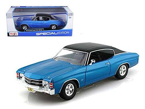 (Maisto 31890 1971 Chevrolet Chevelle SS 454 Blue 1/18 Diecast Model)