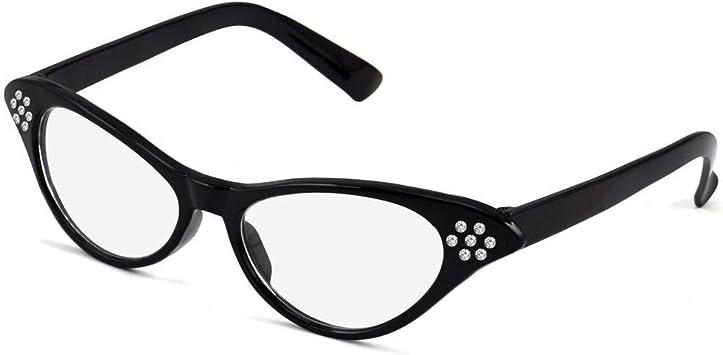 Chinkyboo - Gafas para disfraz de Grease negro 16 años: Amazon ...