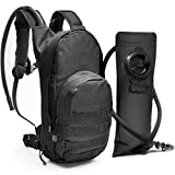 Diaz Sport Tactical Molle Hydration Pack Backpack with 3L Water Bladder. Lightweight & Durable Military Daypack Keeps Water Cold Up to 4 Hours | for Hiking Running Cycling Camping Biking