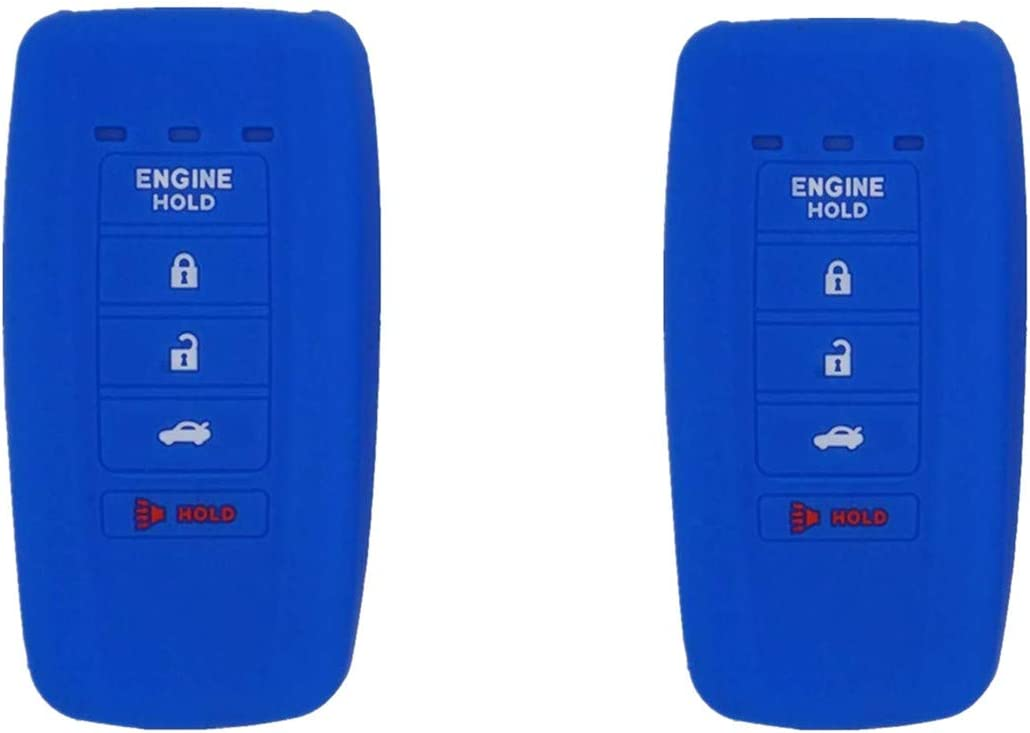 Silicone Smart Key Fob Covers Case Protector Keyless Remote Holder for Acura MDX RDX RLX ILX TLX KR537924100.Blue