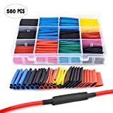 Automotive : Nilight 50005R Heat Shrink 2:1 Electric Insulation Tube Kit 45mm Flame Retardant Wrap Cable Sleeve 560pcs 5 Colors 12 Sizes with Storage Box,2 Years Warranty