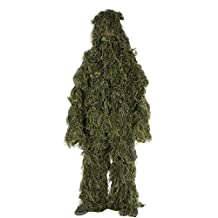 Pericross Ghillie Suit M/L Camo Woodland Camouflage Forest Hunting 4-Piece + Bag