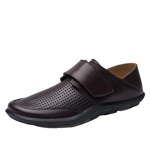 SK Stutio Mocasines de Cuero para Hombre Moda Casual Loafers Slip On Plano Zapatos de Conducción Zapatillas: Amazon.es: Zapatos y complementos