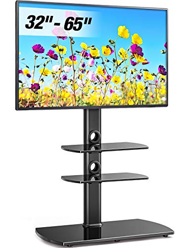 FITUEYES Floor TV Stand with Swivel Mount Height Adjustable for 32 to 65 inch LCD, LED OLED TVs TT306501GB (Stand Tv Ps3)