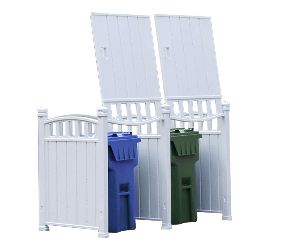 Lovely Garbage Storage #7 - Amazon.com : RubbishWrap Outdoor Garbage Enclosure - Trash Bin Shed Storage  - Double Unit : Garden U0026 Outdoor
