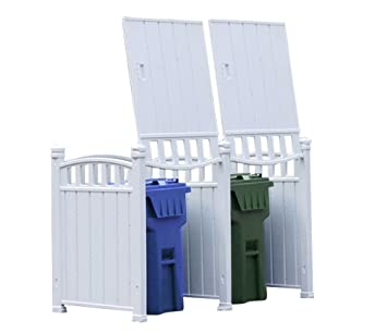 RubbishWrap Outdoor Garbage Enclosure   Trash Bin Shed Storage   Double Unit