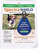 Dog Flea Treatment Collar - Durvet Spectra Shield Collar Attached Medallion for Small Dogs, 14 to 29-Pound