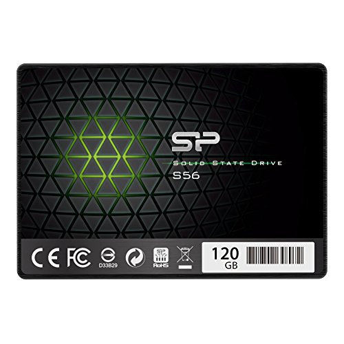 Silicon Power 120GB SSD 3D NAND with R/W up to 560/530MB/s S56 SLC Cache Performance Boost SATA III 2.5'' 7mm (0.28'') Internal Solid State Drive (SP120GBSS3S56B25AZ) by Silicon Power