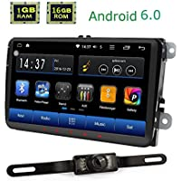 for Volkswagen Jetta Golf Passat Tiguan T5 Skoda Seat Android 6.0 9 inch HD 1280720 Double Din Car Stereo with Easy Connect RDS Radio SWC Canbus Deaoder Bluetooth Hands-Free Calling GPS Navigation
