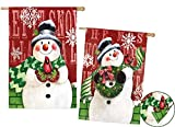 Evergreen Brick Snowman Double Sided Suede House Flag, 29 x 43 inches Review