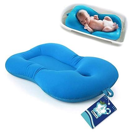 Lettino Gonfiabile Neonato.Moonvvin Materassino Galleggiante Per Il Bagno Del Neonato Materassino Morbido Con Cuscino Blue