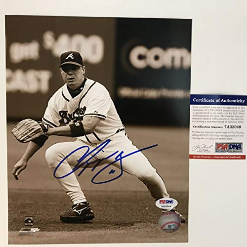 - Autographed/Signed Chipper Jones Atlanta Braves 8x10 Baseball Photo PSA/DNA COA