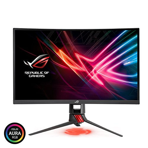 "Price comparison product image ASUS ROG Strix 27"" Curved Gaming Monitor Full HD 1080p 144Hz DP HDMI DVI Fully Adjustable Function w / Industry leading 3 years warranty (XG27VQ) (Certified Refurbished)"