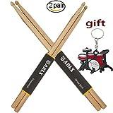 Drum Sticks 5A Wood Tip Drumstick (2 Pair Maple)
