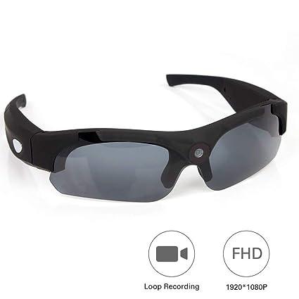 OOLIFENG 1080P HD Mini Gafas Cámara, Espía Gafas con Cámara DV Videocámara Grabador De Vídeo
