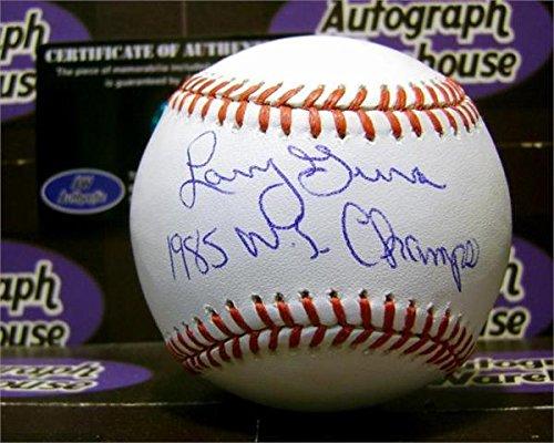 Larry Gura Autographed Baseball  inscribed 1985 WS Champs  Autographed Baseballs