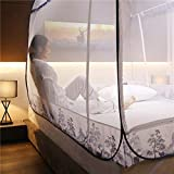 Pop-Up Mosquito Net Tent Canopy for King Size Beds, Crib Netting, Self-Standing Tent for Camping, Folding Portable for Baby Adults Trip