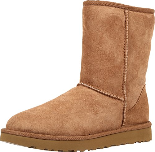 UGG Women's Classic Short II Winter Boot, Chestnut, 9 B US -