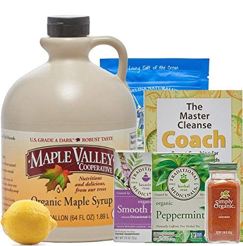(Maple Valley 10 Day Organic Master Cleanse Lemonade Detox/Kit with Peter Glickman Master Cleanse Coach Book)