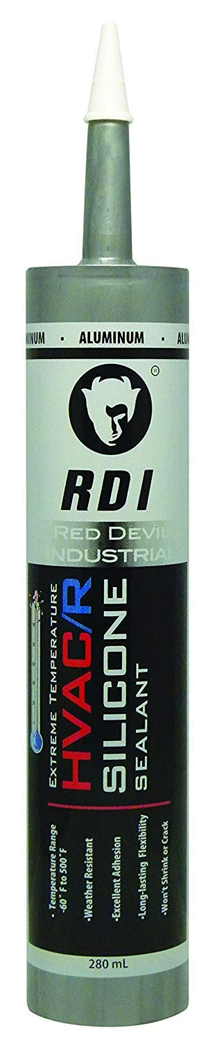 Red Devil 089650 Extreme Temperature HVAC/R Silicone Sealant, 280 ml, Aluminum