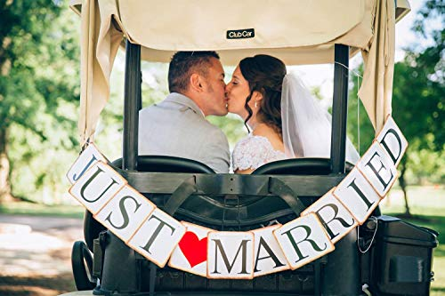 Honbay Just Married Wedding Banner Wedding Decorations Romantic Wedding Photo Props