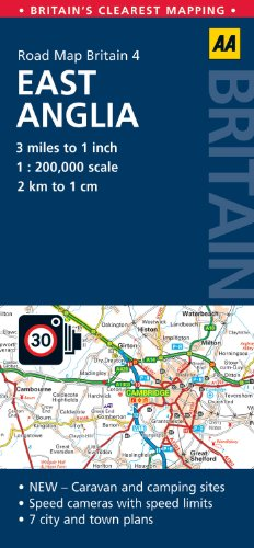 Road Map Britain: East Anglia (Aa Road Map Britain)