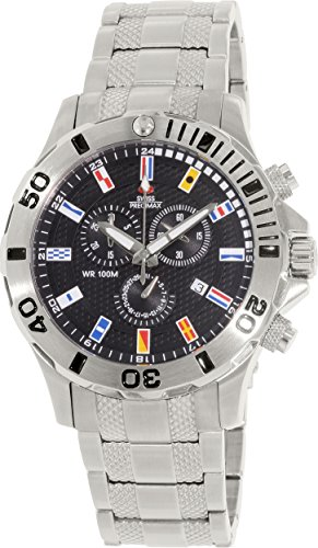 Swiss Precimax Men's SP12209 Armada Pro Black Dial Silver Stainless-Steel Band Watch