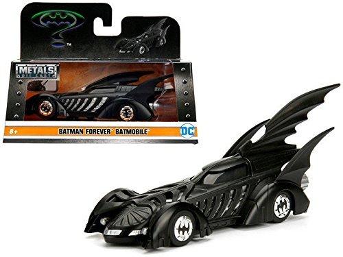 Black Bat Model (NEW 1:32 JADA TOYS COLLECTION - Matte Black Batman Forever Batmobile Diecast Model Car By Jada Toys)