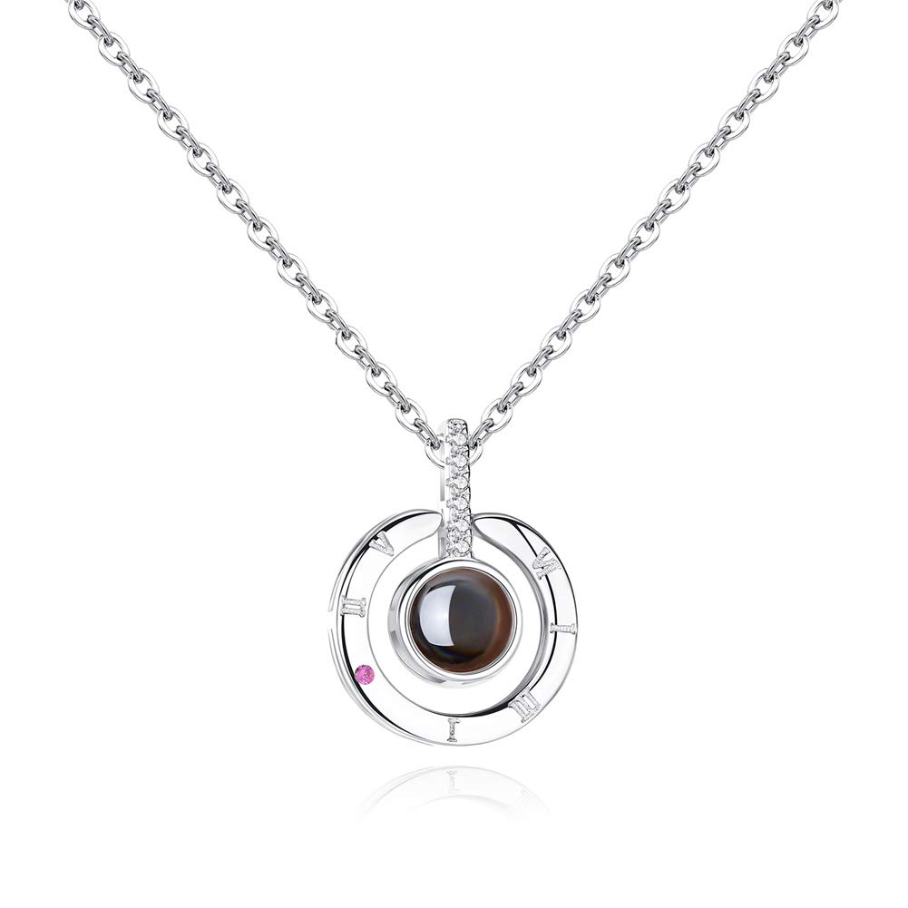 """Love Necklace Mom Necklace Gifts for Mothers Day 100 Languages /""""I Love You/"""" Expression on Round Onyx Bead Pendant Amazing Gift for Women Girls"""