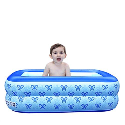 Hyun times Bath home inflatable blue 110 60 35cm thick folded plastic child bath pool by Hyun times Bathtub