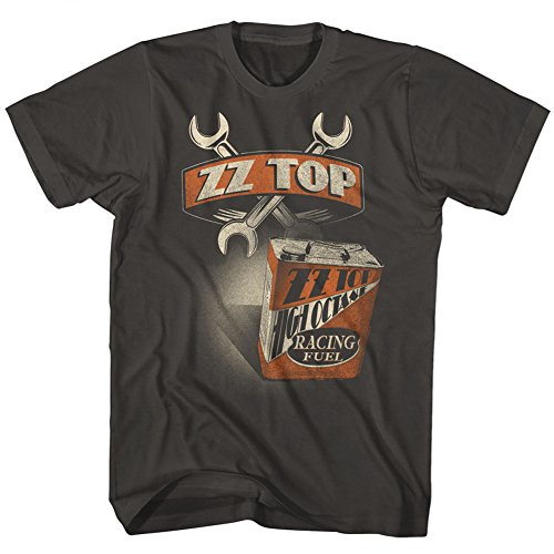 (American Classics ZZ Top Rock Band Music Group Wrenches High Octane Racing Fuel Adult T-Shirt Tee)