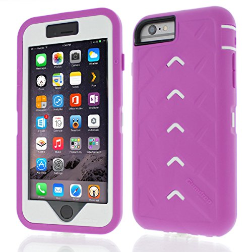 (Apple iPhone 6 Plus Drop Tech Pink Gumdrop Cases Silicone Rugged Shock Absorbing Protective Dual Layer Cover Case)