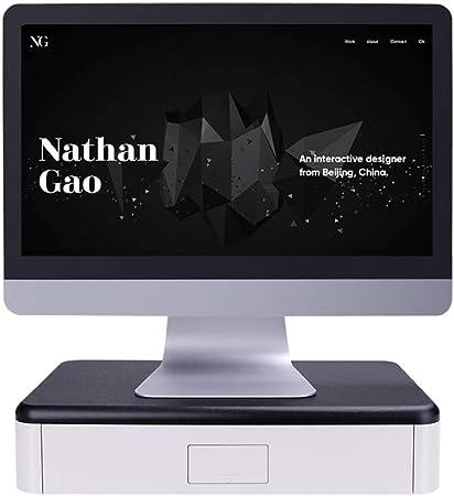 Asdfgh Multifunktion Monitorständer Bildschirmständer Stifthalter Mit Schublade Amazon De