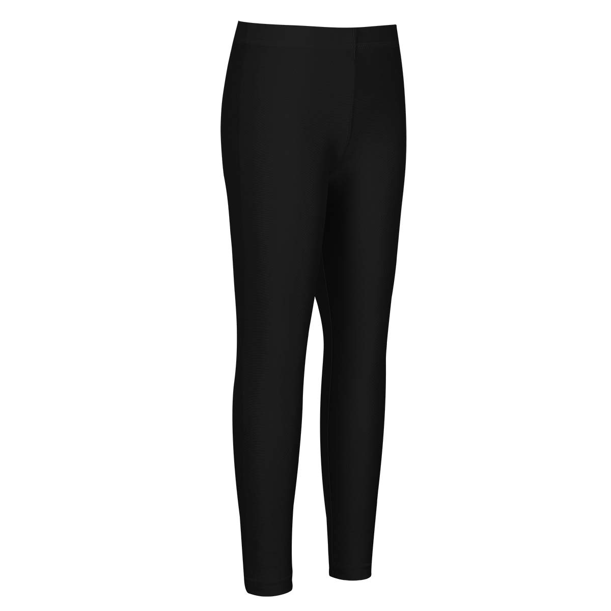 Freebily Kids Girls Seamless Legging for Active School Play Soft Basic Solid Cotton Ankle Length Stretchy Tights Black 4-5