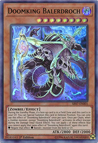 Yu-Gi-Oh! - Doomking Balerdroch - SR07-EN001 - Ultra Rare - 1st Edition - Structure Deck: Zombie -