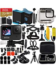 $499 » GoPro HERO9 Action Camera (Black) with Premium Accessory Bundle – Includes: SanDisk Extreme 32GB microSD Memory Card, Replacement Battery, Underwater Housing, Protective Case & More