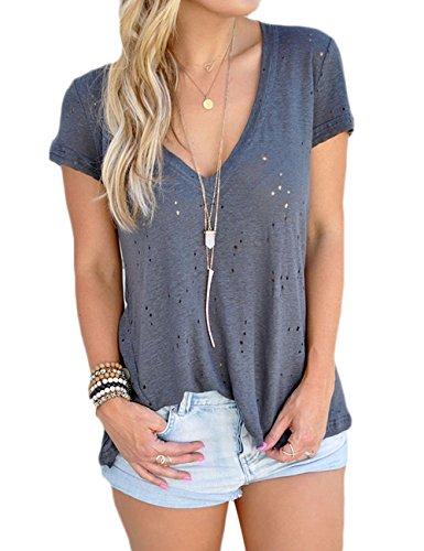 Yuandy Summer Sleeve Cotton T shirt