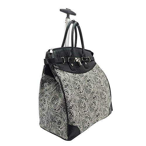 Graphic Paisley Foldable Rolling Carry-on 14-inch Laptop/Tablet Tote Bag ()