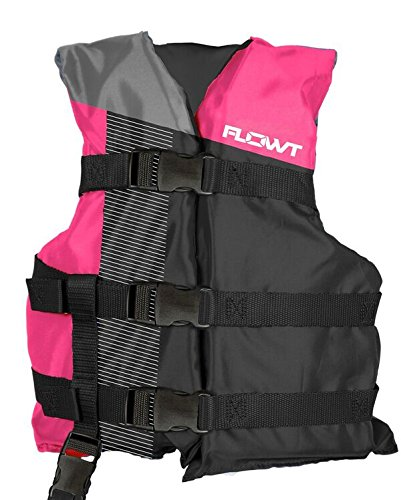 Flowt 40310-2-YTH Multi Sport Life Vest, Type III PFD, Pink, Youth, Fits 50 to 90 lbs ()