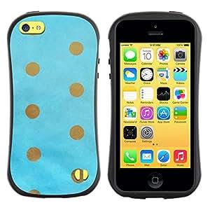 """Pulsar iFace Series Tpu silicona Carcasa Funda Case para Apple iPhone 5C , Punto de oro del bebé de Brown azul minimalista"""""""