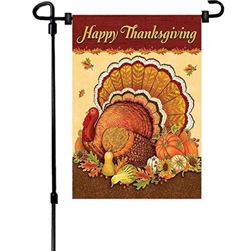 3 Pack Thanksgiving Garden Flags,12.5 x 18 inch Double Sided Printing 2 Layer For Fall And Thanksgiving Decorations Halloween Christmas Garden Flags For Holiday Seasonal Décor ()