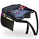 Kids Travel Play Tray - 16'' x 12'' Premium Quality Portable Activity Stroller Tray with Pockets and Carry/Storage Bag- By Freckled Frog TM