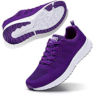 STQ Women's Athletic Walking Shoes Lightweight Mesh Tennis Sport Sneakers Purple 8.5