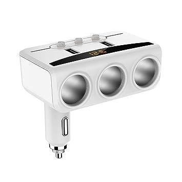BENJIE Cargador De Coche USB Adaptador Encendedor Mechero De ...