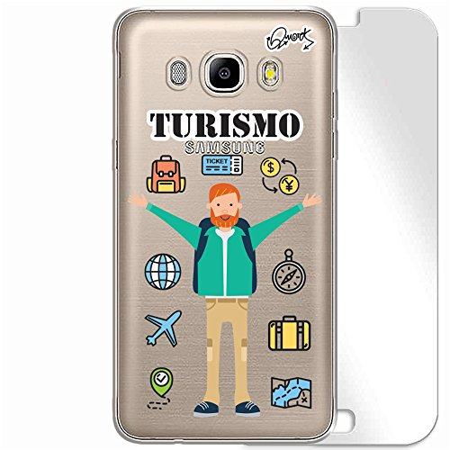 CAPA + PELÍCULA VIDRO Samsung J5 2016 - TURISMO MASC