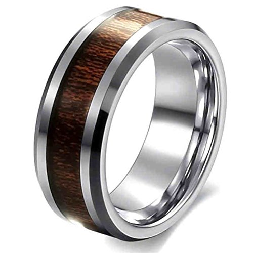 mens-wedding-bands-classic-8mm-316l-stainless-steel-tungsten-best-promise-rings-with-hawaii-koa-wood