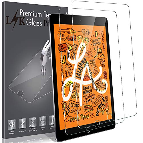 LK [2 Pack] Screen Protector for iPad Mini 5 (2019) / iPad Mini 4, Tempered Glass with Lifetime Replacement Warranty