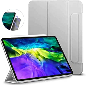ESR Rebound Magnetic Smart Case for iPad Pro 11 2020 & 2018, Convenient Magnetic Attachment [Supports Pencil Pairing & Charging] Smart Case Cover, Auto Sleep/Wake Trifold Stand Case - Gray